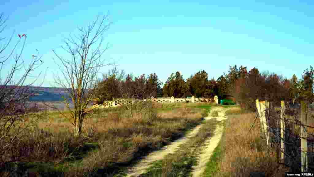 Дорога на старий цвинтар Холмівки, де розташована могила Євгена Адамцевича і його дружини.