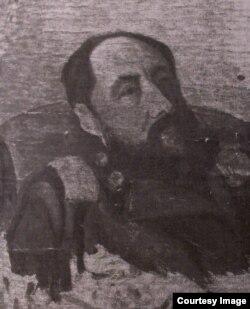В.В.Хлебников. Портрет отца. Масло. Начало 1900-х. РГАЛИ.