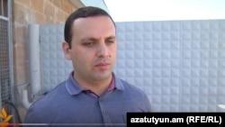 Адвокат Ерем Саргсян в Гюмри, 12 августа 2015 г.