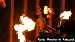 Український співак Melovin під час репетиції, Лісабон, Португалія, 9 травня 2018 року