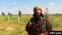 """A screen grab from an apparent IS """"beheading"""" video, shared on social media on March 29."""