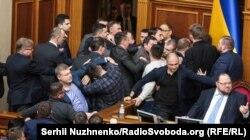 Бійка «за землю» у Верховній Раді. Київ, 6 лютого 2020 року