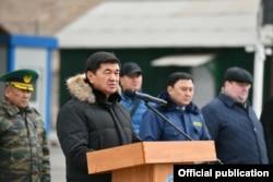 Мухаммедкалый Абылгазиев на открытии инспекторско-досмотрового комплекса «Иркештам».