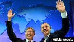 Алмазбек Атамбаев и Реджеп Эрдоган в Анкаре. 2015 год