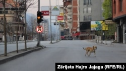 Скопје за време на полициски час