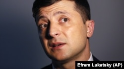 Ukrainian comedian and presidential candidate Volodymyr Zelenskiy (file photo)