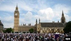 Demonstracije u Londonu protiv sukoba u Pojasu Gaze, juli 2014.