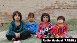 Bannu, July 31, 2014: Members of the family of Sadaqatullah Dawar, displaced from Pakistan's North Waziristan district.