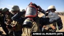 اعضای پلیس ملی عراق در اطراف موصل