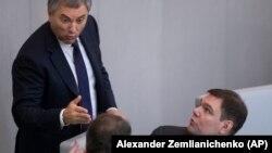 Дума рәисе Вячеслав Володинм һәм аның урынбасары Петр Толстой