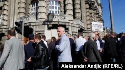 Protest advokata ispred zgrade Vlade Srbije 20. oktobra, ilustrativna fotografija