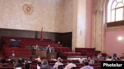 Armenia -- The National Assembly votes on controversial amendments allowing foreign-language schools, 24June 2010.