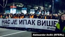 «Нас все ж більше» – впевнені учасники акції протесту в Белграді