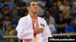 Arxiv foto: Pekin Olimpiadasının qalibi Elnur Məmmədli, 2008-ci il