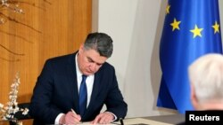 Presidenti kroat, Zoran Millanoviq.