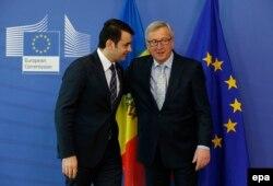 Chiril Gaburici şi Jean Claude Juncker