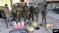 نیروهای ارتش سوریه در شهر قاره
