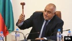 Премиерът Бойко Борисов по време на заседанието на Министерския съвет в петък, 12 юни