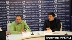 Директор агентства социальных коммуникаций Сергей Белашко (слева) и старший аналитик Международного центра перспективных исследований Анатолий Октисюк