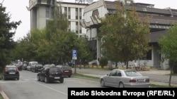 Macedonia - Parking zone in Tetovo.
