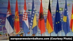 Flags at EU-Western Balkans summit