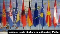 Zastave zemalja Zapadnog Balkana i EU