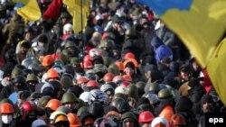 Фото с одной из протестных акций в Киеве 29 января