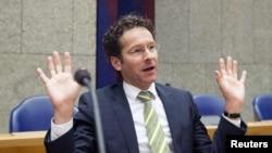 Еуропа Одағы қаржы министрлері тобының жетекшісі, Нидерландының қаржы министрі Йерун Дейсселблум. 26 наурыз 2013 жыл.