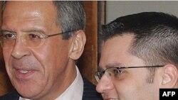 Sergej Lavrov i Vuk Jeremić na sastanku 2008. godine