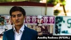 Азербайжандагы оппозициячыл активист Руслан Насирли.