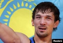 Акжурек Танатаров, ставший бронзовым призером лондонской Олимпиады по вольной борьбе. 12 августа 2012 года.
