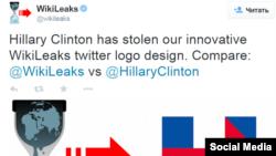 Wikileals says Hillary Clinton has stolen the logo