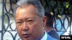 Бывший президент Кыргызстана Курманбек Бакиев. Бишкек, 23 июля 2009 года.
