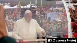 Папа Франциск під час перебування у Вільнюсі, 22 вересня 2018 року