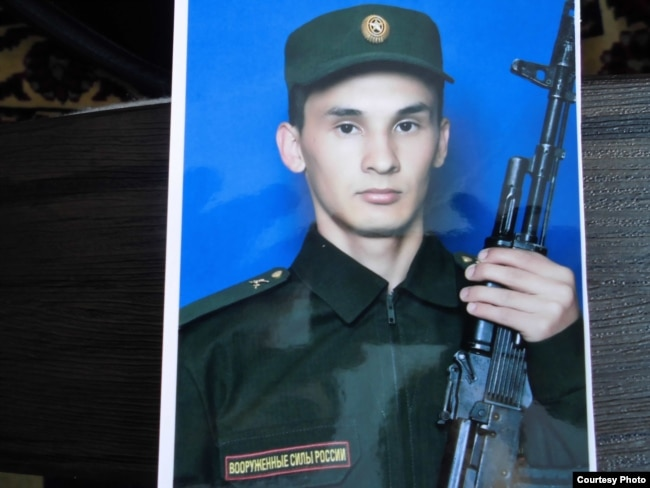 Denis Khamidullin, 19, died on March 7 at his military unit outside Yekaterinburg. The military provided no details on his death, which was ruled a suicide. His family says he regularly asked for money.