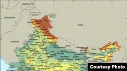 Հնդկաստանի քարտեզը