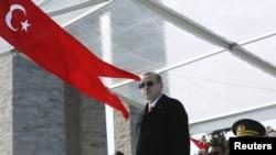 Președintele Tayyip Erdogan la ceremonia aniversării Bătăliei de la Canakkale, în campania Gallipoli