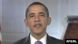 Барак Обама ҳангоми арзи паёми наврӯзӣ