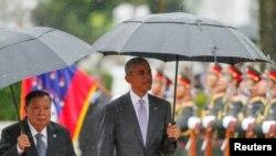 Лаос - Iамеркин президент Обама Барак а (аььто), Лаосан президент Буньянг Ворочит а. Вьентьян, Лаос. Гезг. 6, 2016.