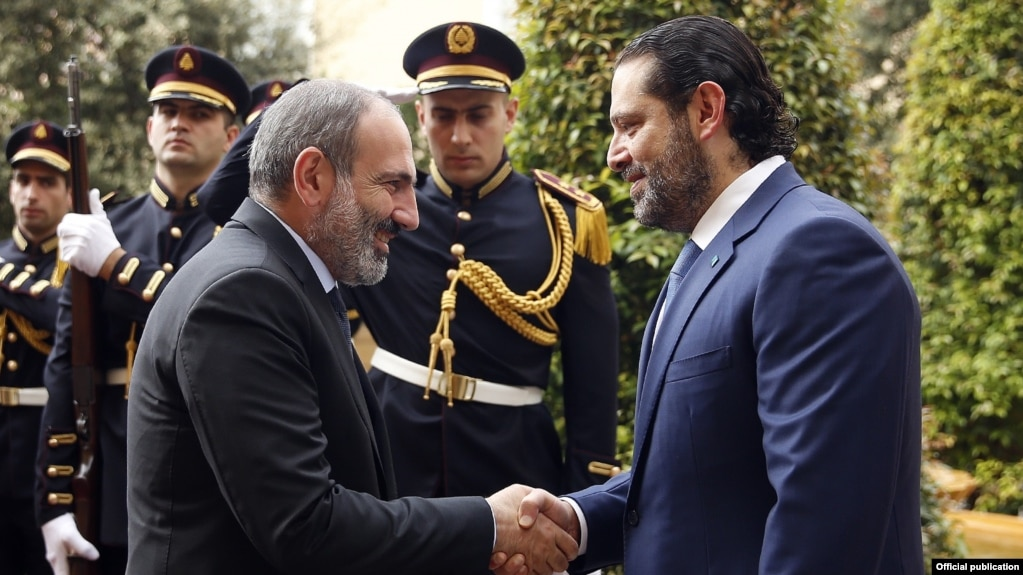 Никол Пашинян и Саад Харири обсудили перспективы развития отношений между Арменией и Ливаном