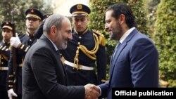 Նիկոլ Փաշինյանի և Սաադ Հարիրիի հանդիպումը, լուսանկարը՝ Հայաստանի վարչապետի աշխատակազմի լրատվականի