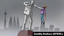 """""""Heykəlin intiqamı"""". Karikatura. Gündüz Ağayev"""