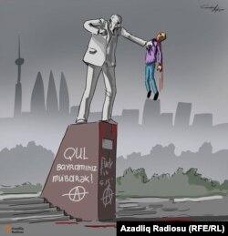 Gündüz Ağayevin karikaturası