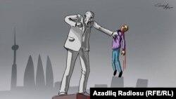 """""""Heykəl"""". Karikatura. Gündüz Ağayev."""