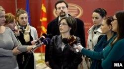 Претставници на Македонската асоцијација на новинари