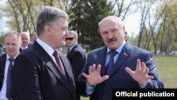 Сустрэча Аляксандра Лукашэнкі і Пятра Парашэнкі ў Чарнобылі, 2017 год