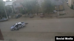Фото из социальной сети ВКонтакте предположительно о событиях в Актобе 5 июня 2016 года.