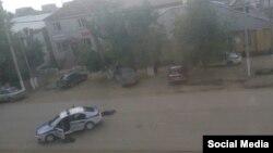 В районе перестрелки в городе Актобе в Актюбинской области. 5 июня 2016 года.