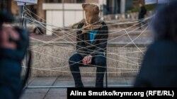 П'ятий день народження в російських в'язницях: як пройшла акція на підтримку кримського політв'язня Володимира Дудки (фотогалерея) (КР)