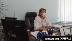 Батыс Қазақстан облыстық білім басқармасы басшысының орынбасары Светлана Темірғалиева. Орал, 26 тамыз 2021 жыл.